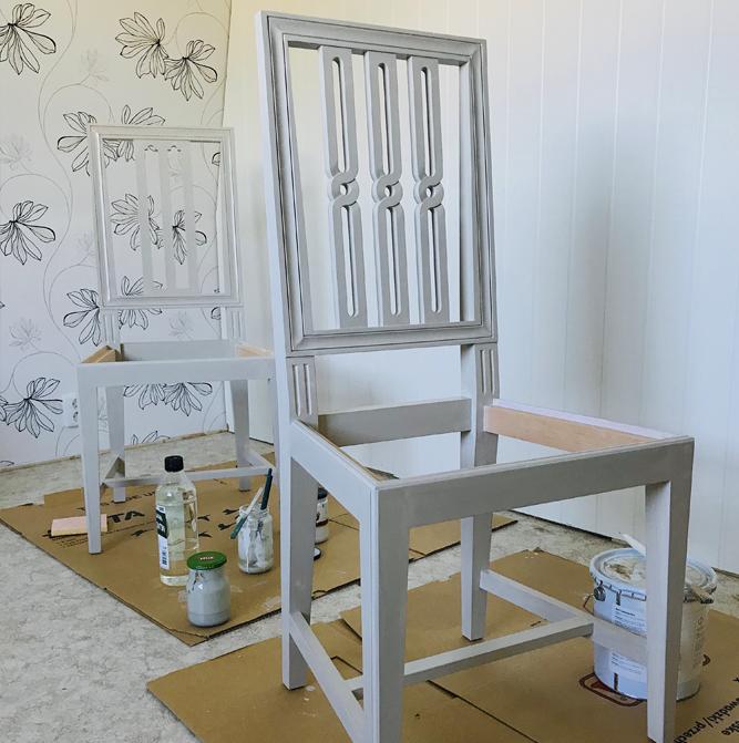Ny tillverkad stol